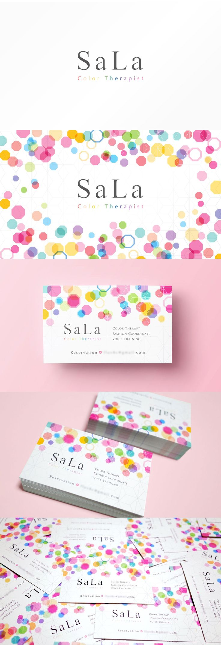Color therapist business card design | 宝石のようなカラーセラピストの名刺デザイン。 #businesscard #card #design #color #colorful #colortherapist #gem #jewelry #名刺 #カード #デザイン