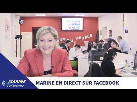 Marine Le Pen répond à vos questions sur Facebook (19/01/2017) - YouTube