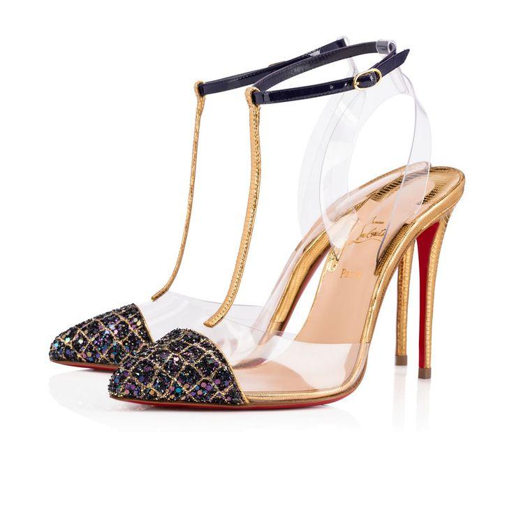NOSY ALIGLITTER/PVC 100 China Blue Glitter - Women Shoes - Christian Louboutin