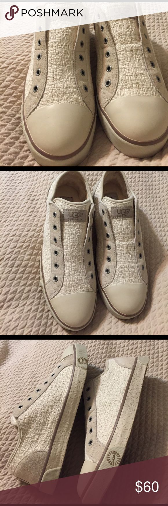 New W/O Tags Ugg Sneakers Brand new never been worn Ugg sneakers. Shearling lined with cotton woven body and suede trim. UGG Shoes Sneakers