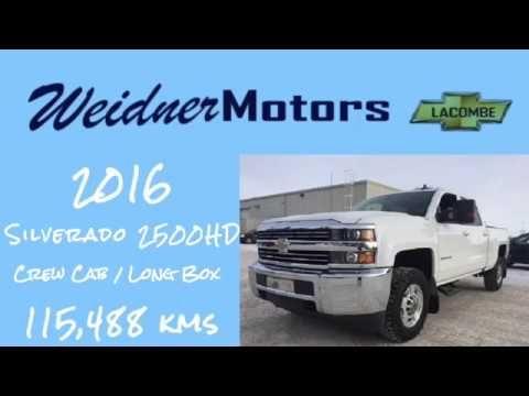 2016 Chevrolet Silverado 2500HD / Crew Cab, Short Box / White, 1LT, 4X4 ...