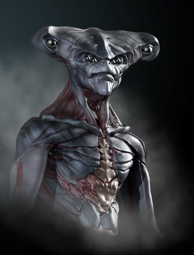 ArtStation - Hammerhead Alien, David Kaye