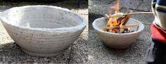 Een vuurschaal van beton voor de tuin kan eenvoudig zelf worden gemaakt #beton