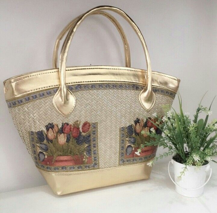 Tulip Painting - Woven Bag