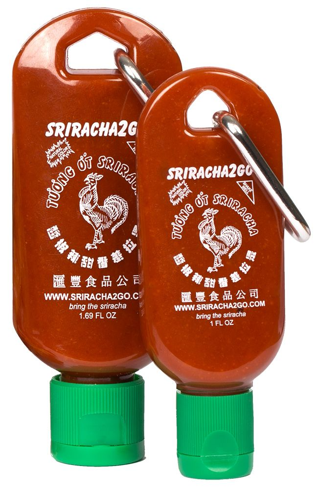 Sriracha2Go and Mini-S2G! Need sriracha all day? Bring Sriracha2Go! Need sriracha for one meal? Bring Mini-S2G! Whatever the situation, sriracha will be by your side!