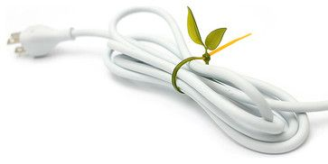 Leaf Tie Cable Organizer, Emerald Green 12$