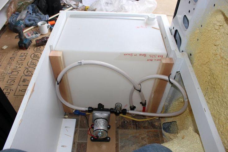Coocplsecuretank2 van conversion plumbing grey water