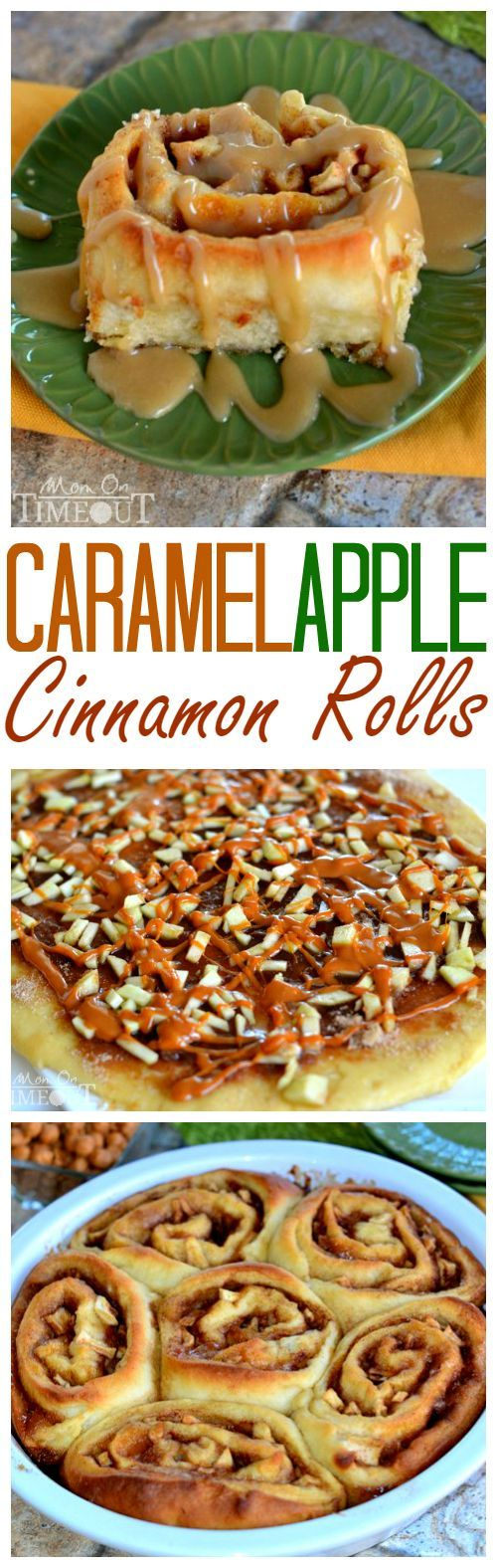 Craving caramel apples?  Try these Caramel Apple Cinnamon Rolls for a sweetly satisfying breakfast treat!  These gorgeous rolls are topped with a mouth-watering caramel icing and filled with Granny Smith apples and caramel.