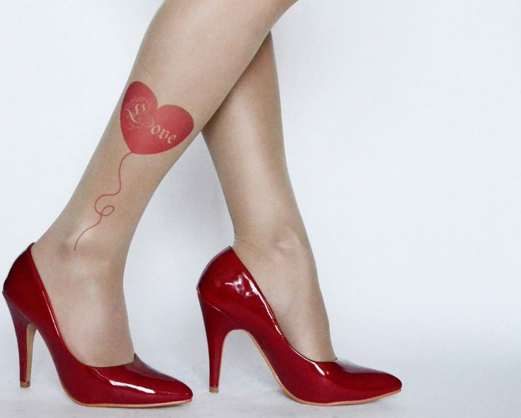 Love Tattoo Tights , Printed  Handmade Tights With Red Heart , Tattoo Women's Pantyhose , tattoo socks by colinedesign on Etsy https://www.etsy.com/listing/176097998/love-tattoo-tights-printed-handmade