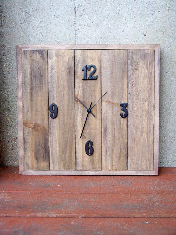 MADE TO ORDER  Reclaimed Cedar Wood Clock by RusticWoodOriginals, $110.00