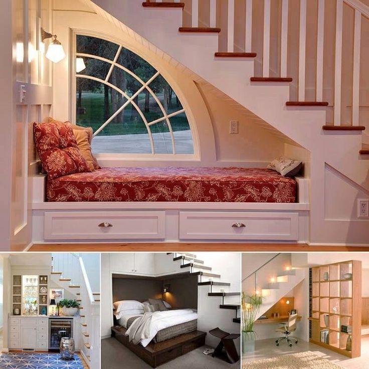 Mejores 17 im genes de ideas para reutilizar espacios for Sofa bajo escalera