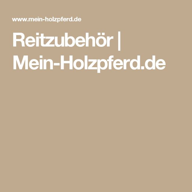 Reitzubehör   Mein-Holzpferd.de