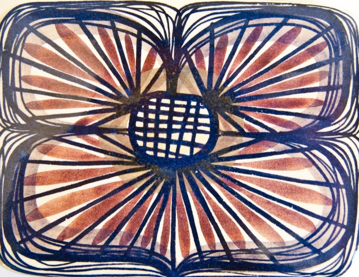 """""""Beth Breyen, Alumina – Royal Copenhagen c 1960′s, Part of the Tenera Range. Pattern No. 165. Beth often used butterflies and birds as basis for many of her patterns. You can find more about the work of Beth Breyen HERE"""""""