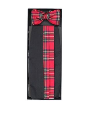 Gitman Brothers Men's Tartan Cummerbund and Self-Tie Bow Tie Set