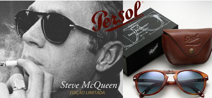 A Persol rendeu homenagem ao ator que mais contribuiu para a fama dos seus óculos: a marca dedicou a Steve McQueen ™ uma edição limitada de 10.000 exemplares, todos feitos à mão e distribuídos globalmente. #oculos #de #sol #luxo #edicao #limitada #limited #sm #714SM #modasolar