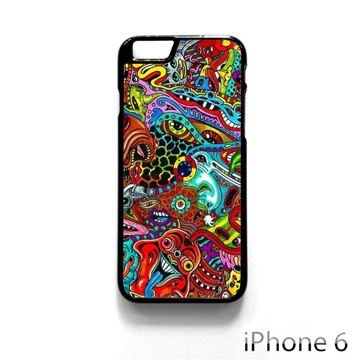 Psychedelic drawings monster Eyes colorful for iPhone 4/4S/5/5C/5S/6/6 Plus