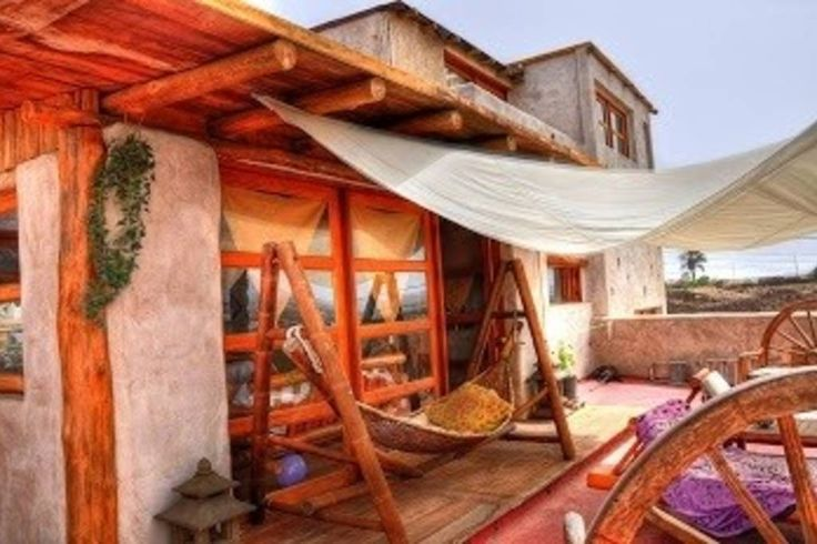 Apartment in La Oliva, Spain. Big lodge for 2-6 people  100% relax in purest thai style!  rent the whole space for the big family or friends.  Lodge with big living-space, wide terass and gardenarea.  All furnished in wood and bamboo and decored with a special touch.  In Lajar...