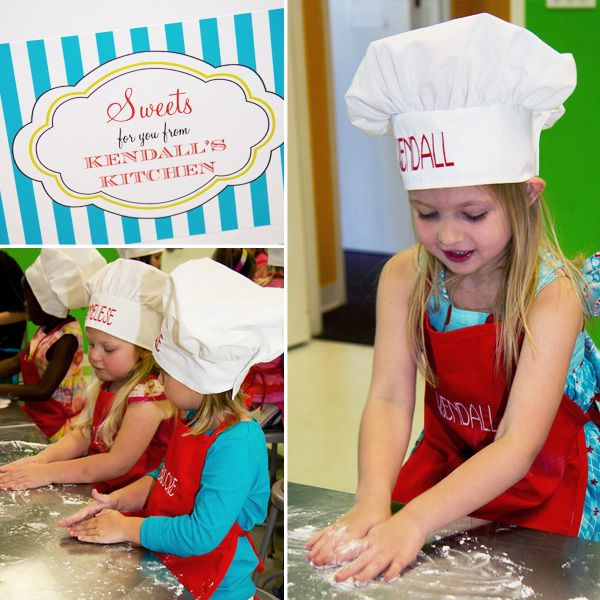 Adorable Cooking-Inspired Birthday Party <3 An Homage to Daddy <3 We'll also be doing this one at some point. With a daddy as a chef, I suspect one of our children (this one or the next) will be interested in cooking! :)