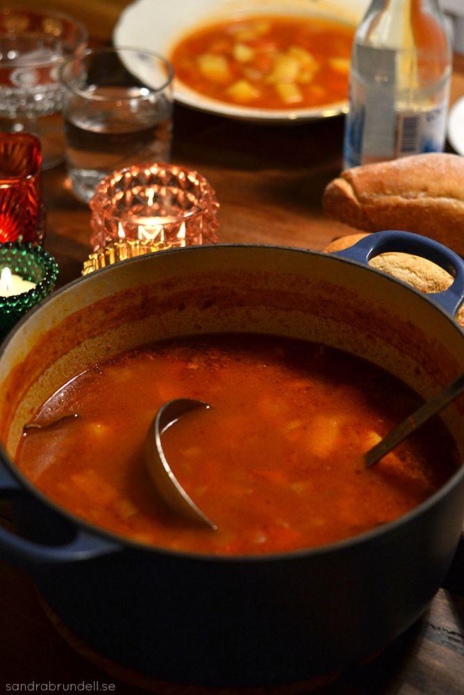 Den godaste gulaschsoppan - nu utan kött | Sandra Brundell