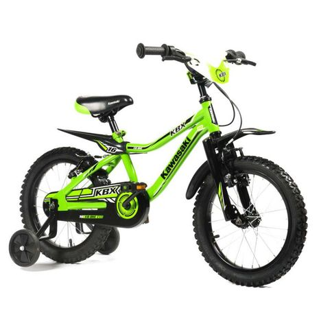 Vehicule pentru copii :: Biciclete si accesorii :: Biciclete :: Bicicleta copii Kawasaki KBX green 16 ATK Bikes