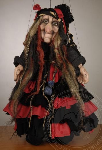 cute witch marionette