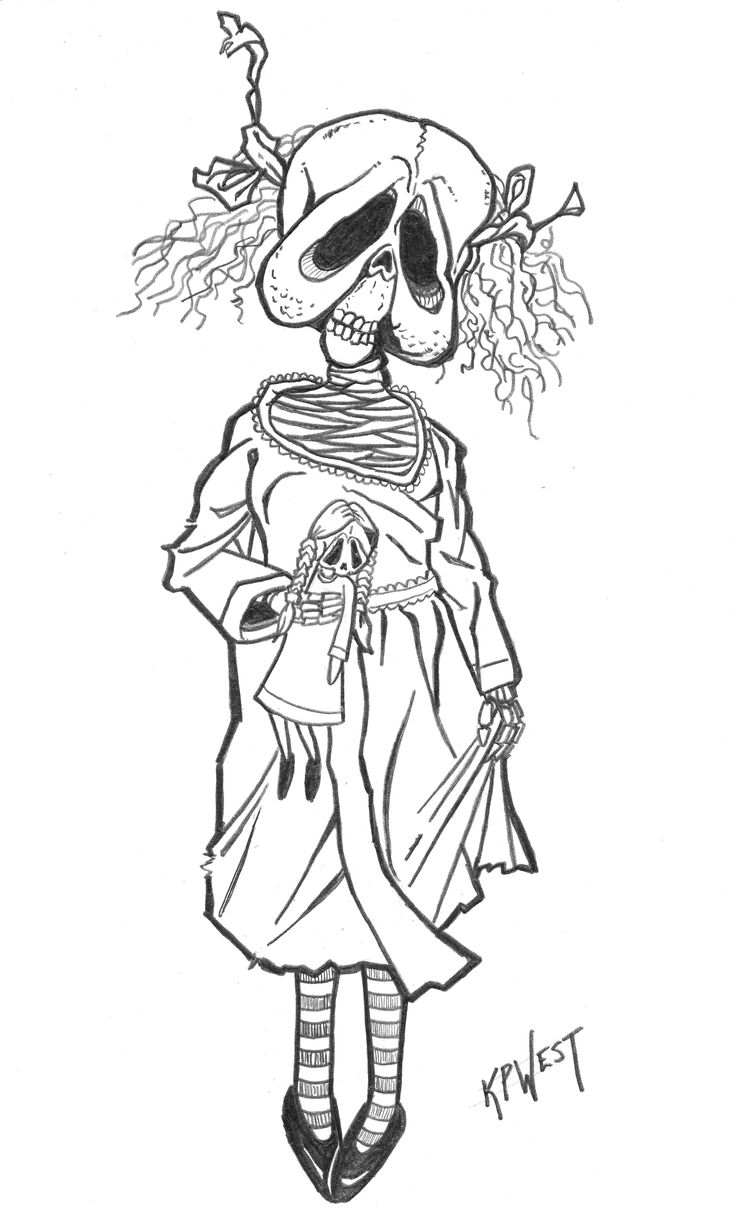 scary coloring pages - photo#34