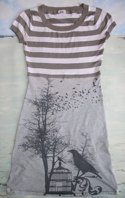Refashion Co-op: Teeshirts Make a Tee Dress. I really need to tackle that pile of ts and stuff...