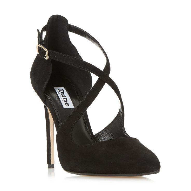 DUNE LADIES DAKOTAH - Cross Strap Two Part Court Shoe - black | Dune Shoes Online