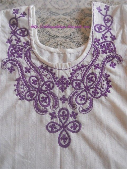 Sindhi Embroidery neck design