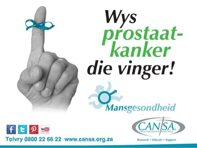 CANSA Mansgesondheid - Prostaatkanker - 2014 Afrikaans by CANSA The Cancer Association of South Africa via slideshare
