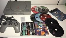 Sony PlayStation PS1 5501 Gray Console System  Games - Works Great!