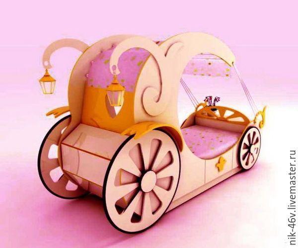 Baby bed | Купить Кровать карета для девочки - кровать карета, кровать для девочки, кровать детская на заказ