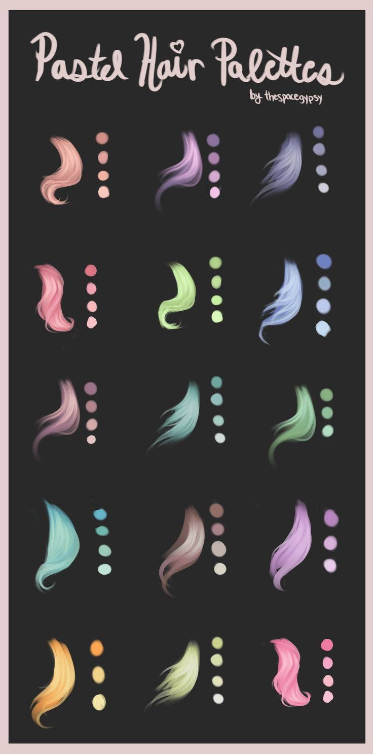 Pastel Hair Palettes by TheSpaceGypsy