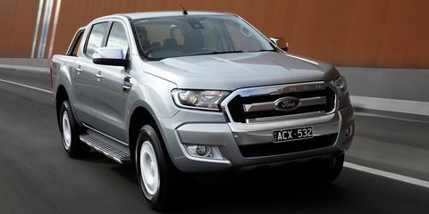 Ford Ranger Wildtrack (Silver) [w/tailgate bike rack, bull bar & sports bars, roof rails and racks, HD mats and seat covers]