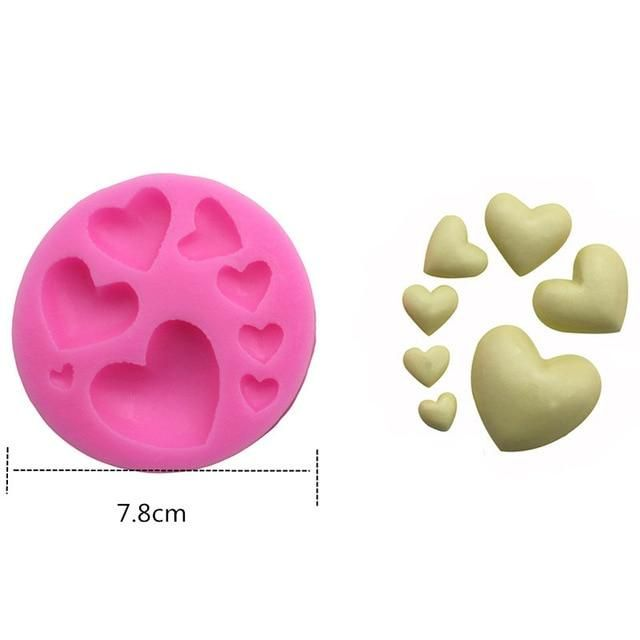 1pcs 3D Silicone Mold Baby Series Flower DIY Cake Baking Mold   – Products