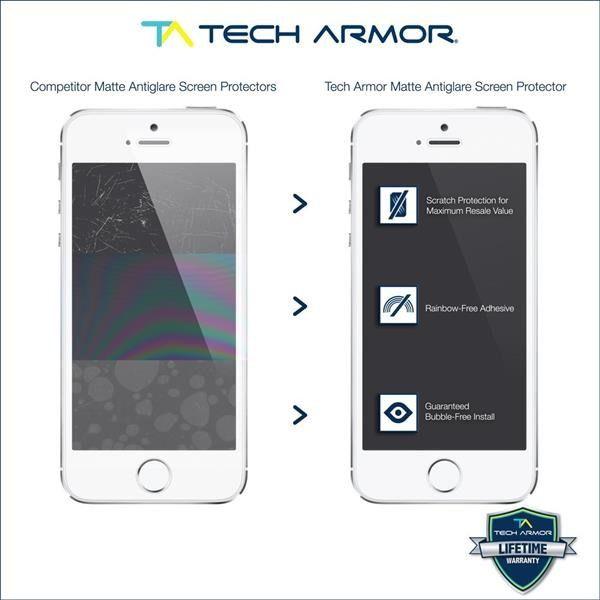 Tech Armor Apple iPhone 5/5c/5s Anti-Glare/Anti-Fingerprint (Matte) Screen Protectors [3Pack] Lifetime Warranty