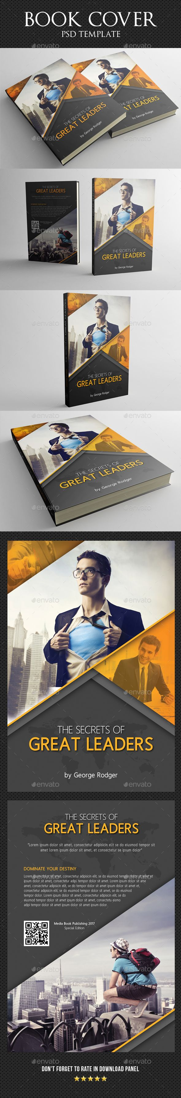 Book Cover Template 15 — Photoshop PSD #elegant #story • Available here → https://graphicriver.net/item/book-cover-template-15/18010668?ref=pxcr