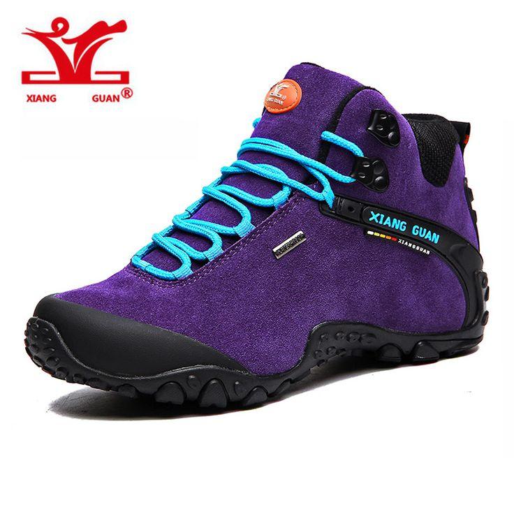 XIANGGUAN Women Rubber sole walking climbing shoes breathable hiking shoes Waterproof winter warm Original style non-slip shoes #Affiliate