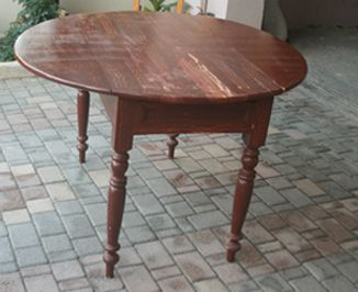 Dining table - before the recovery restoration
