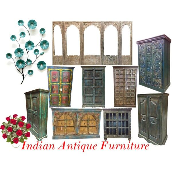 Indian antique furniture by mogul interior on polyvore for Mogul interior designs