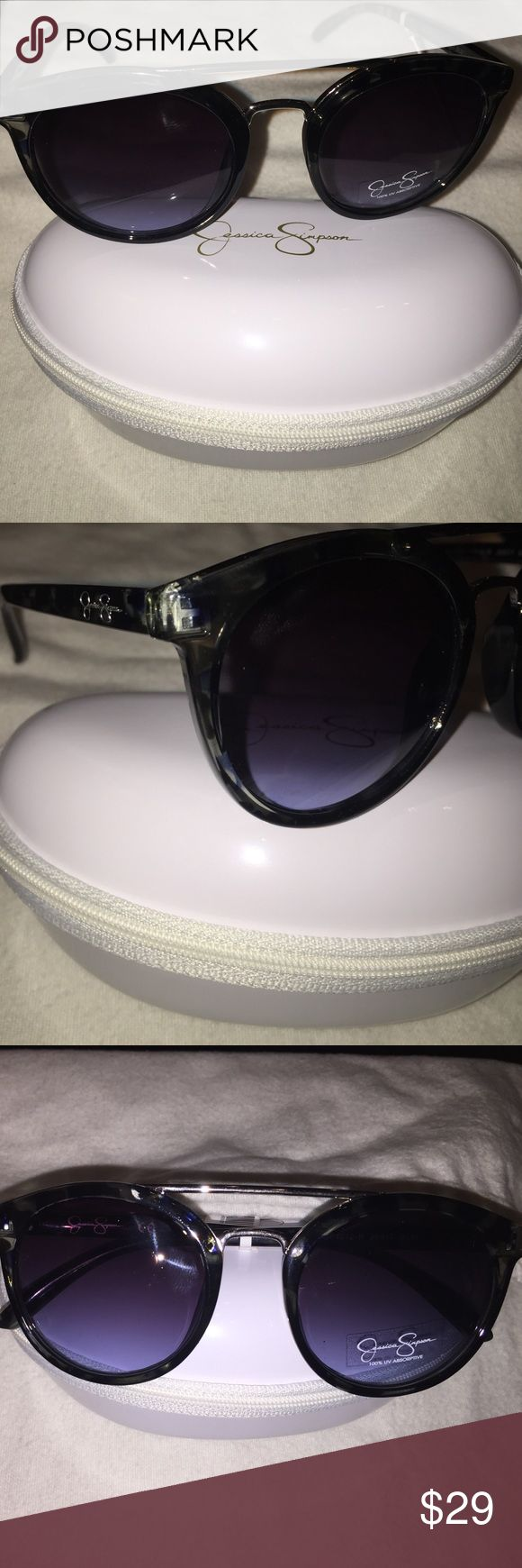 Jessica Simpson blue leopard sunglasses NWT Jessica Simpson blue leopard sunglasses with 100% UV protection. New with tags. Absolutely gorgeous! Comes with case. Jessica Simpson Accessories Sunglasses