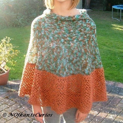 Autumnal Polo Poncho!  Child's Poncho 6 to 14 years. £20.00
