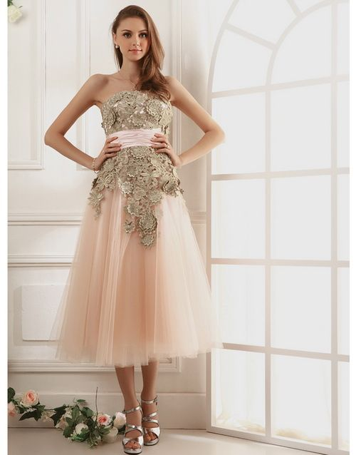 Shabby Chic Prom Dress Gown