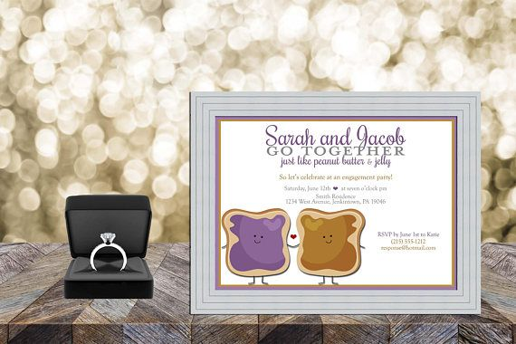Make a statement for your loved one with these colorful and modern Engagement Party invitation cards that are customized to your event! This listing is for a customizable, high resolution, 5 x 7 digital design in .jpeg format Engagement Party invitations. You can have these