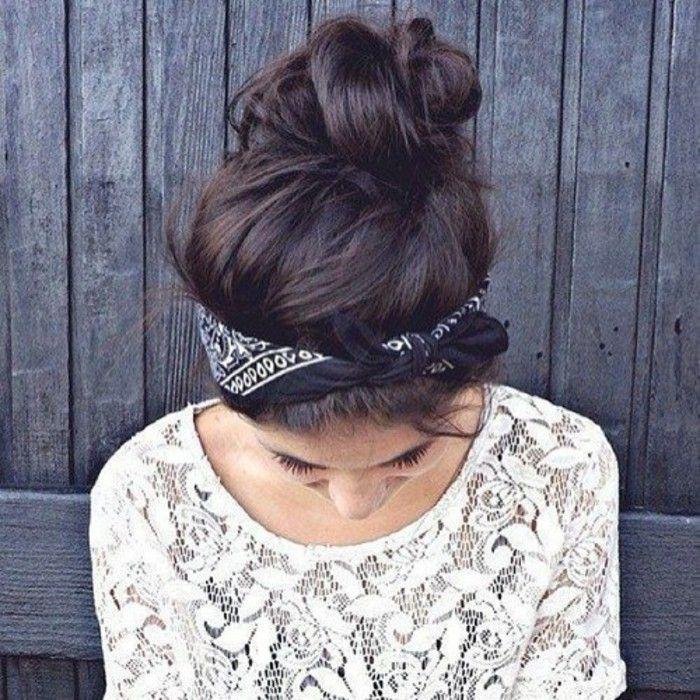 id e tendance coupe coiffure femme 2017 2018 chignon coiff d coiff pour cheveux mi long. Black Bedroom Furniture Sets. Home Design Ideas