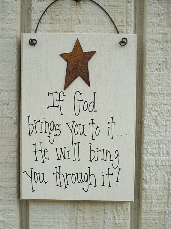 Wood SIGN Religious with Rusty Tin Star by soshabbyandprim on Etsy