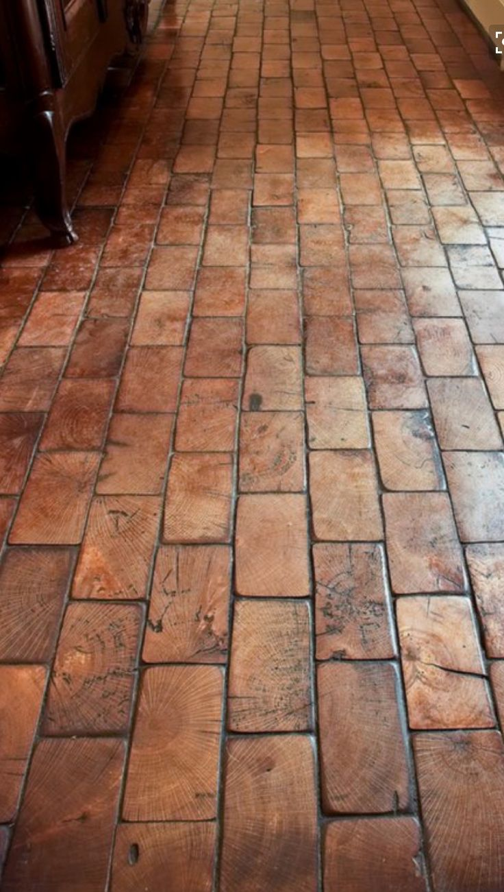 49 best flooring ideas images on pinterest floors brick if youve ever worked with ceramic tile you would find it easy to install a wood block floor achieving a look seldom seen in homes today dailygadgetfo Images