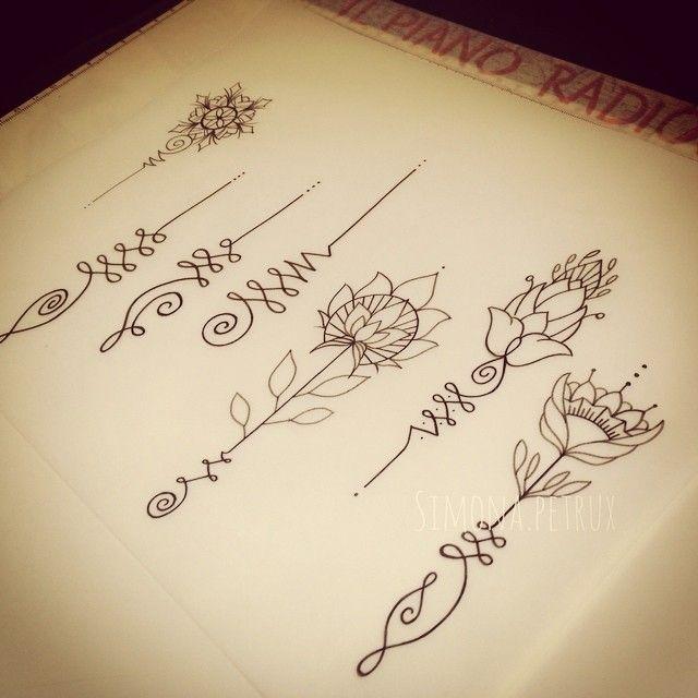 """""""Mi piace"""": 154, commenti: 8 - #SimonaPetrux TattooMaker (@simona.petrux) su Instagram: """"#unalome   disponibili da tatuare (tranne 1) Simona.petrux@gmail.com…"""""""