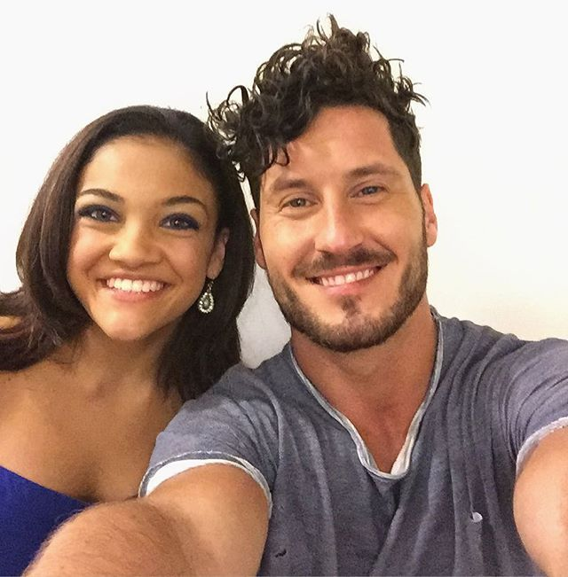Pin for Later: 20 Glorious Pictures of the Dancing With the Stars Cast Getting to Know Each Other When Laurie Hernandez and Valentin Chmerkovskiy Took the Sweetest Selfie