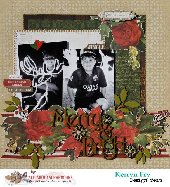 All About Scrapbooks Australia: Merry & Bright using Kaisercraft Letters to Santa ...